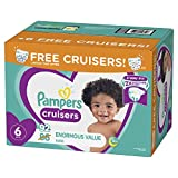 Diapers Size 6, 92 Count - Pampers Cruisers Disposable Baby Diapers, Enormous Pack, Plus Bonus Diapers