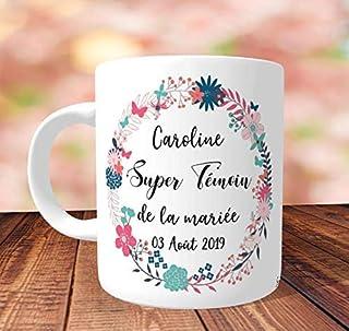 Mug Super Témoin de la mariée à personnaliser - Idée Cadeau témoin, cadeau témoin mariage, mug personnalisé, mug super tém...