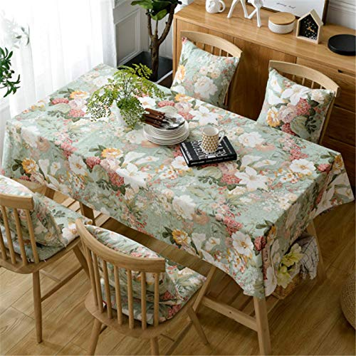 HTUO Rectangle Tablecloth Christmas Decoration Waterproof Oil Proof Table Cover Simple Cotton Tablecloth Modern Dining Table Coffee Table Wedding Banquet Living Room Outdoor 110 * 110cm