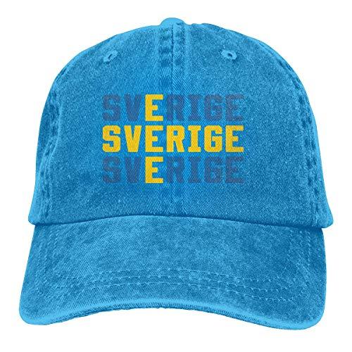LinUpdate-Store Baseballmütze für Männer Frauen, Sverige Schweden Schwedische Flagge Frauen Baumwolle verstellbare Jeans Mütze Hut