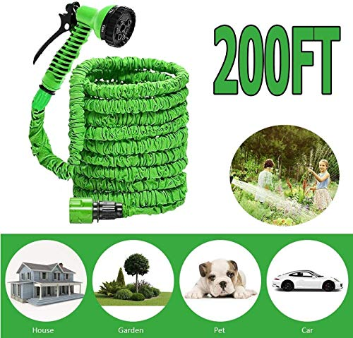 Pipes Tuinslang Buizen Waterslangen Expandable Expanding Hosepipe Extension Long Lichtgewicht Met Spuitpistool 7-Pattern Nozzle Flexibele Easy To Storage Green MUMUJIN (Size : 30M)