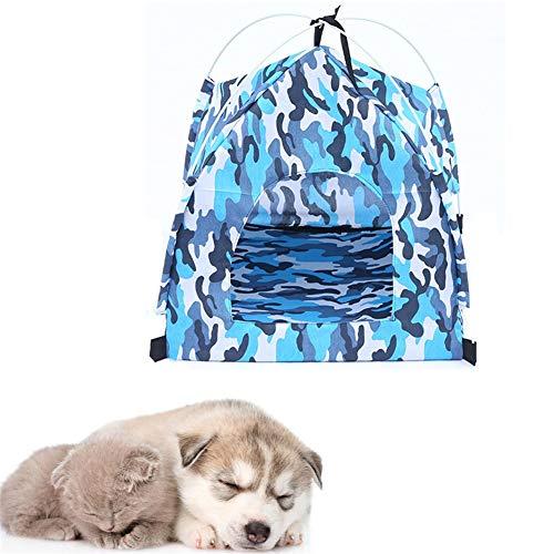 hongyupu Cuccia per Gatti Tenda per Cani Canile per Cani all'aperto Letto per Tenda per Cani Dog House Letto per Cani all'aperto Blue