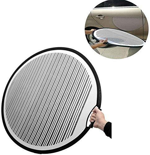 SAXTEL Reflektor Platte Dellen Reparatur Werkzeug, Handgehalten Auto Dellen PDR Streifen Line Auffinden Platte für Fahrzeug Tür Kratzer oder Hagel Damages Dellen Test Werkzeuge
