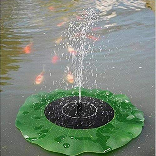 ZHANGZ0 Solar Lotus Brunnen dekorative schwimmende Tauchpumpe Außenschwimmbad Schaukel Teichbelüfter, für Gartenschwimmbad