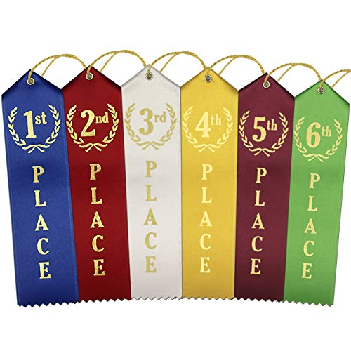 1st - 6th Place Award Ribbons - 12 Each Place (72 Count Total)