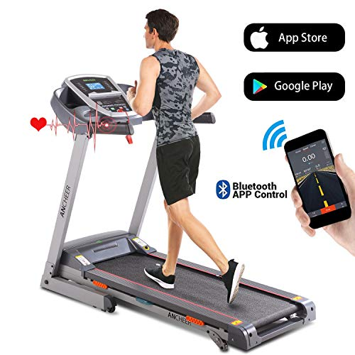 ANCHEER Folding Treadmill, 3.0HP Electric Treadmill...