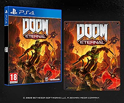 DOOM Eternal with Steel Poster (Exclusive to Amazon.co.uk) (PS4)