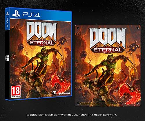 DOOM Eternal with Steel Poster (Exclusive to Amazon.co.uk) - PlayStation 4 [Importación inglesa]