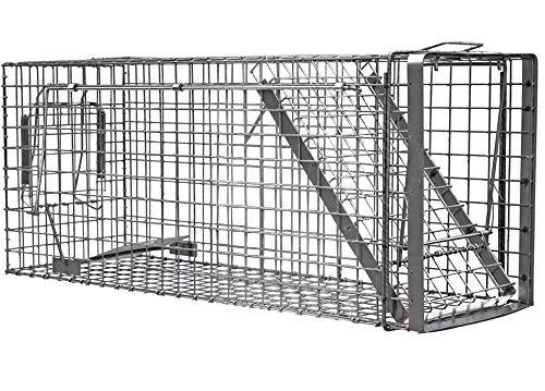 Zielonalapka Hardy 80x34x34 cm 1 Porta Gabbia Trappola in Metallo per Catturare Animali Vivi. con Extra Un'Esca.