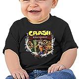 maichenxuan Crash Bandicoot - Camiseta de manga corta para bebé, cómoda y transpirable, color negro