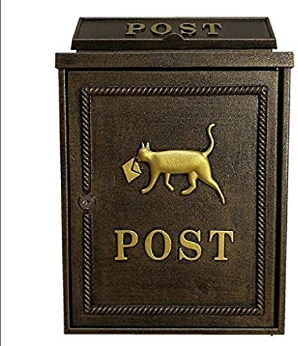 NCHEOI Postfächer Top Öffnung Rückwärtsmontage zeitgenössischer Postfach Bronze
