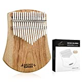 [Upgrade] GECKO Kalimba Thumb Piano 17 Keys Camphor Wood, Portable Mbira Finger Piano with Hammer, Natural Color, Gift for Adults Children and Beginners