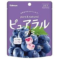 カバヤ ピュアラルグミ ぶどう 58g×8袋入×(2ケース)