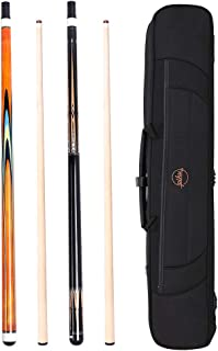 piku Billiard cue Sticks Set 2-pc Model with Joint Protector, 2 cues + 1 case