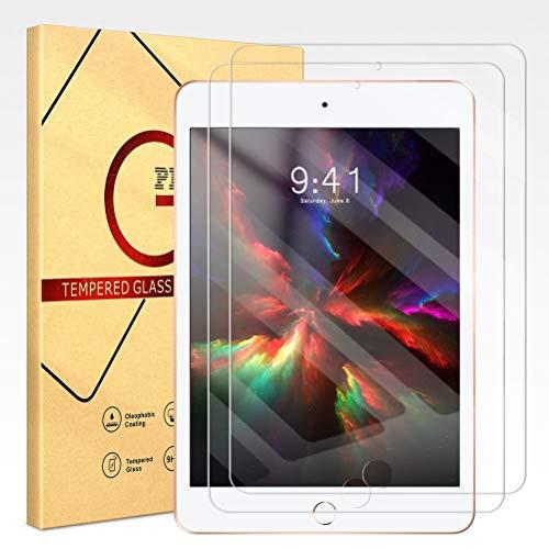 ZhuoFan 2 Stück Schutzfolie für Apple iPad Mini 5 2019 / Mini 4 2015 (iPad Mini 4th und 5th Generation) 7.9 Zoll, Gehärtetem Panzerglas Folie Glas Bildschirmfolie Schutzglas Bildschirmschutz [Blasenfrei]