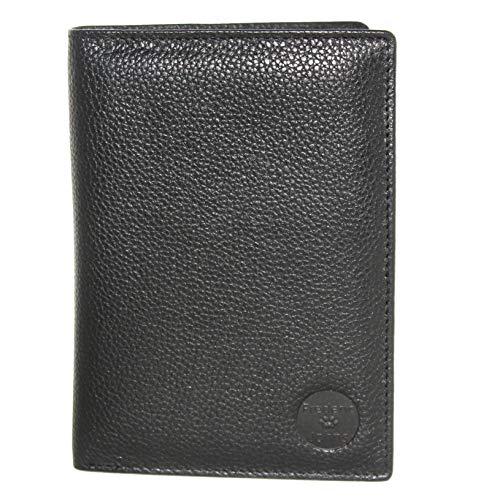 Frédéric Johns - Große Leder Brieftasche mit RFID - Extra 24 Kartenfächer - Reisepass - Geldbeutel - Echt Leder - Ausweishülle - Große Brieftasche (Schwarz)