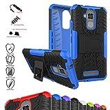 MAMA MOUTH ASUS Zenfone 3 Max ZC520TL Custodia, Duro Shock Proof Copertura Rugged Heavy Duty Antiurto in Piedi Custodia Caso Case per ASUS Zenfone 3 Max ZC520TL Smartphone,Blu