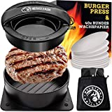 Mountain Grillers Burgerpresse Patty Maker - Handliche antihafte Form mit 40 STK backpapier für...