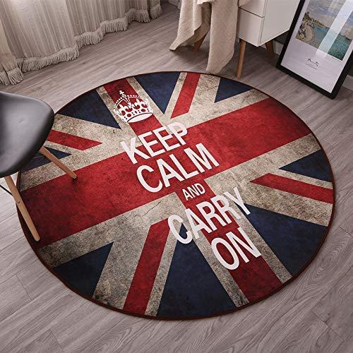 HYY-YY gebied tapijten ronde tapijt vloerstoel draaibare stoel computer stoel pad opknoping mand rotan stoel wieg stoel kussen slaapkamer bed tapijt diameter 80 cm ronde hart retro rijst vlag