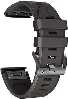 Cinturino per Garmin Fenix 6X/Fenix 6X Pro/Fenix 3/Fenix 3 HR/5X/Fenix 5X Plus/, 26mm Cinturino di Ricambio in Silicone, B...