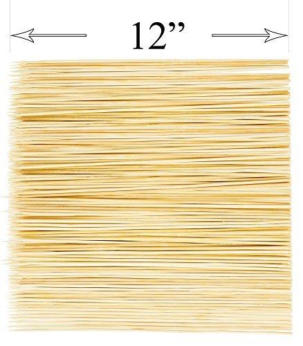 Natural Bamboo Skewer 12-inch Sticks