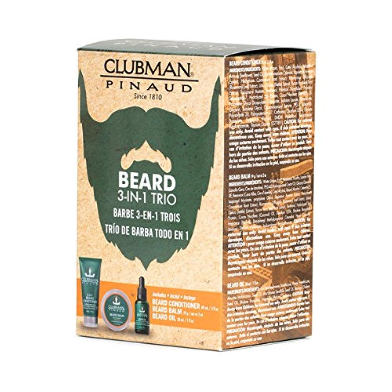 溶かす怪しい全く(3 Pack) CLUBMAN Beard 3 in 1 Trio - Beard Balm, Oil and 2 in 1 Conditioner (並行輸入品)