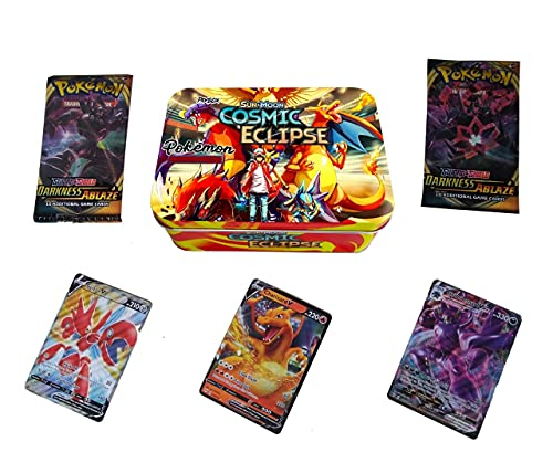 Paybox Poke-mon Cards Game Sun & Moon-Cosmic Eclipse with 2 Booster Packs and Cards for All Ages