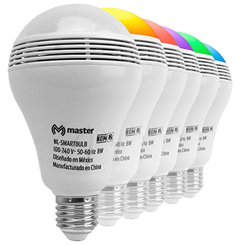 Master- Foco led color blanco y tonos RGB con bocina incluida ideal para iluminación en fiestas de…