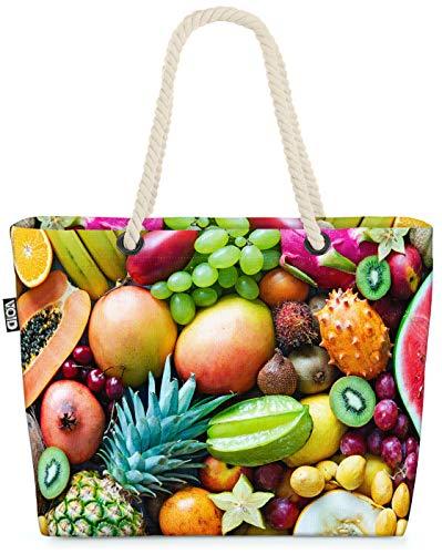 VOID Fruta de Verano Bolsa de Playa 58x38x16cm 23L Shopper Bolsa de Viaje Compras Beach Bag Bolso