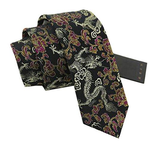 Black Temptation Motif Mode Hommes Cravates/Panda noeuds papillon/cravate/écharpe/Neckwear-Noir