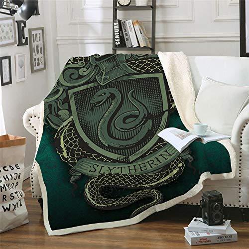 Manta gruesa de Harry Potter para niños adultos, manta de forro polar súper suave, manta sherpa para cama y sofá, R, 150 x 200 cm