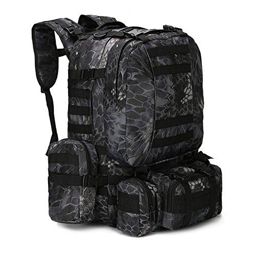 600D Bergsteigen Große Kombination Rucksack Herren Camping Reisetasche Rucksack Wandern Angeln Angeln Outdoor Camouflage Nylontasche,G