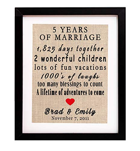 8 Year Anniversary Gifts, 8th Wedding Anniversary Gifts, 8th Year  Anniversary Gifts, 8 year anniversary gifts for her, Custom Burlap Print