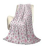 Perlas Moderno y Elegante Colcha para Todas Las Estaciones Patrón de futón con Perlas Grandes y pequeñas de Color Rosa bebé Perlas Piedras Preciosas Estampado Nupcial de guardería Four Seaso