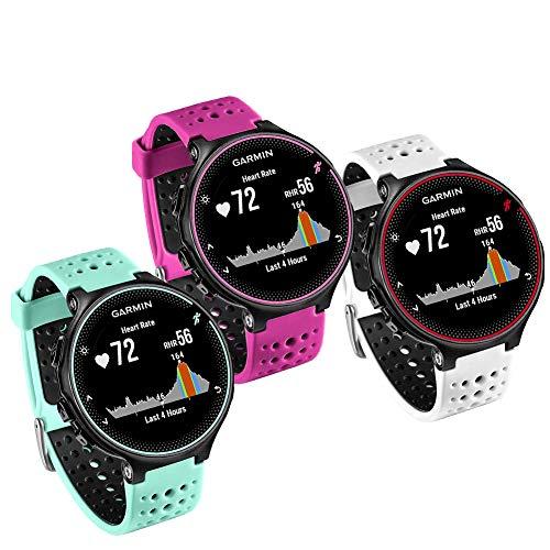 FunBand Correa para Garmin Forerunner 235, Banda de Reemplazo Silicona Suave Sports Pulsera para Garmin Forerunner 235/235 Lite/220/230/620/630/735XT/Approach S20/S5/S6 Smart Watch