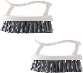 YARNOW 2pc Plastic Scrub Brush Washing Brush Shoes Cleaning Brush Clothes Brush for Bathroom Shower Sink Carpet Floor