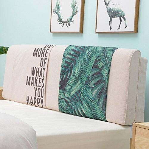 QIANDA Sängkudde Stor ryggstöd med Headboard Lax Stor Pad Slitstark Avtagbar för enkel/Dubbelsäng 4 stilar, 7 storlekar Valfritt (Color : 1#, Size : 150 x 10 x 58cm)