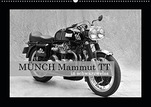 Münch Mammut TT in schwarzweiss (Wandkalender 2019 DIN A2 quer): Ein Motorrad, das seinem Namen alle Ehre macht (Monatskalender, 14 Seiten ) (CALVENDO Mobilitaet)