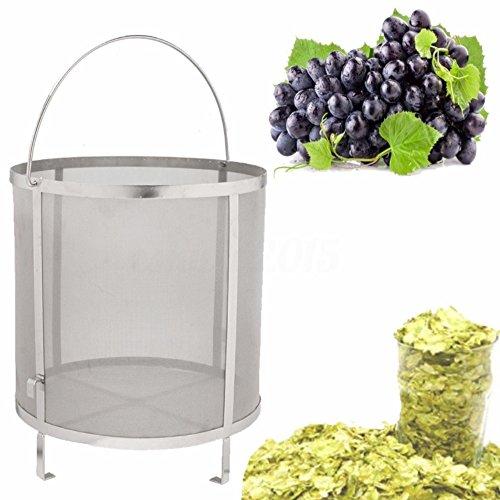 Homebrew - Kit de colador para cerveza, vino, cesta de grano, colador (31 x 30 cm)