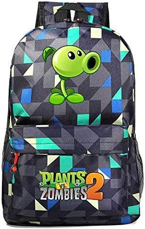 Mzshubao Plants vs Zombies Backpack Boys Girls Casual Daypack Game Theme School Rucksack Kids product image