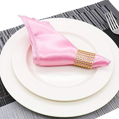 Fijnere 25 stks vierkante satijnen servet 30 cm zakdoek doek voor bruiloft decoratie event party hotel thuis leveringen, licht roze