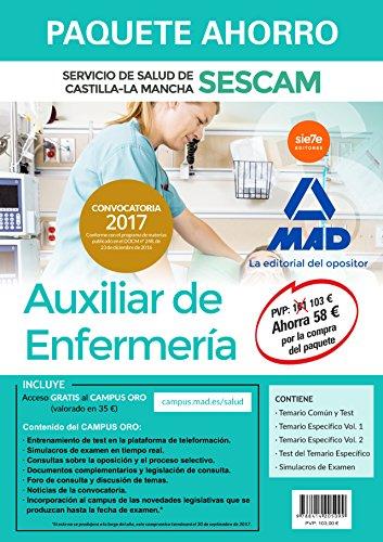 Paquete Ahorro Auxiliar de Enfermería del Servicio de Salud de Castilla-La Mancha (SESCAM). Ahorra 58 € (incluye Temario común y test; Temarios ... Simulacro de examen y acceso Campus Oro)