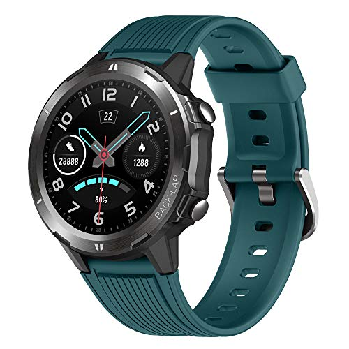 YAMAY Montre Connectée Homme Femmes Smartwatch Cardiofrequencemetre Etanche IP68 Montre Sport Chronometre Podometre Marche Calories Smart Watch Vibrante Montre Intelligent Tactile pour Android iOS