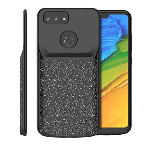 Funda Bateria Xiaomi Mi 8 Lite, 4700mAh Carcasa Bateria Externa Recargable Portatil Protector Cargador Power Bank Case para Xiaomi Mi 8 Lite (Negro)