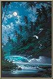 5D DIY Diamond Painting Kit para Adultos/Niños,Pájaro claro de luna Pintura Diamante Grande Taladro Completo Punto de Cruz Bordado Diamantes Imitación Cristal Arts Home Wall Decor Square Drill 45x60cm