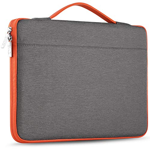ZINZ Maletín 15 15,6 16 Funda Portátil Impermeable para 15-16 Pulgadas MacBook Pro 16 15, Surface Laptop 3 15,XPS 15 Laptop Ultrabook Netbook, DELL HP Lenovo Acer ASUS y más, Gris Oscuro