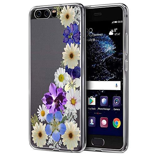 ESRB - Carcasa para Huawei P10 (TPU, silicona, blanda, para regalo), diseño de flores, ultrafina, antideslizante 6 M