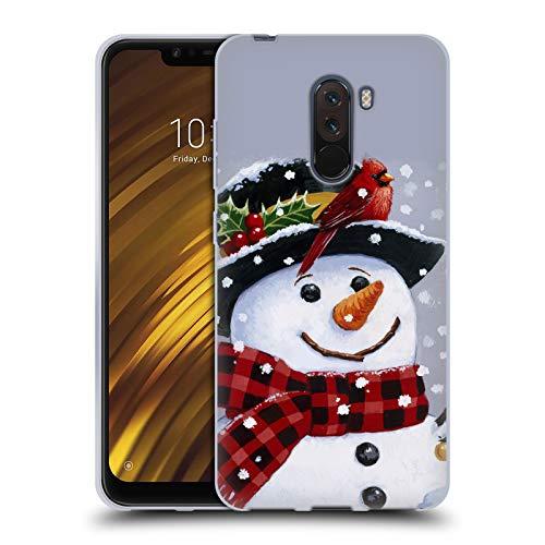 Head Case Designs Offiziell Zugelassen Christmas Mix William Vanderdasson Hocken Schneemann Soft Gel Handyhülle Hülle Huelle kompatibel mit Xiaomi Pocophone/Poco