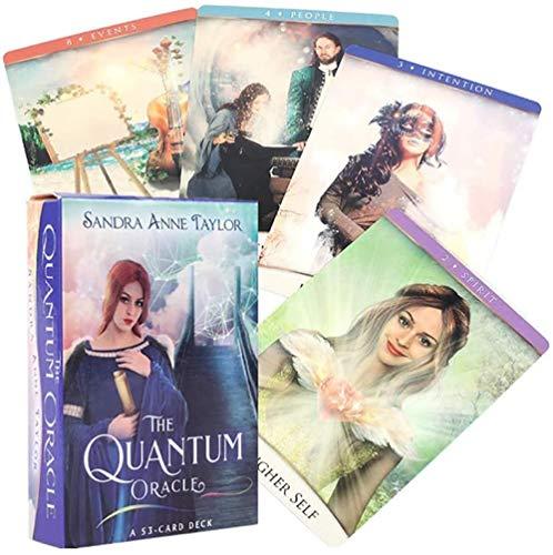 Tarot 53 StüCk Das Quantum Oracle Tarot Cards English Divination Fate Brettspiel FüR Party Entertainment