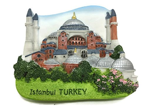 2SKY Souvenir Hagia Sophia Istanbul Türkei hochwertigem Kunstharz Kühlschrank 3D Magnet